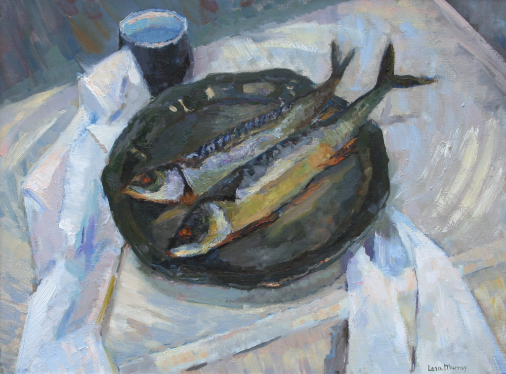 Fish. oil on canvas.