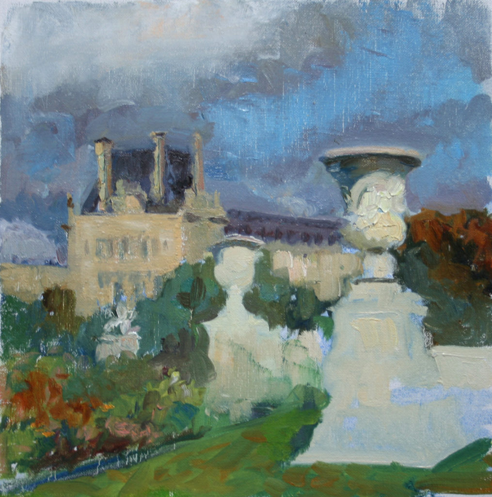 Clouds over Tuileries Gardens. oil on canvas.