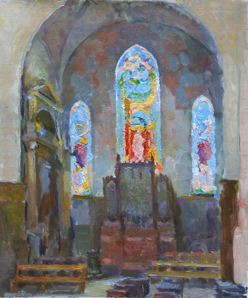 Eglise St. Gervais, Paris. oil on canvas