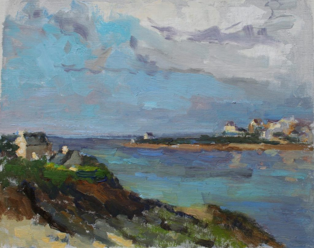 Clouds over Audierne, Bretagne. oil on canvas