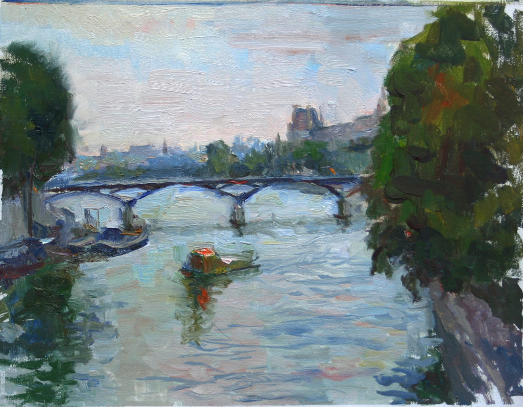 Pot des Arts, Paris. oil on canvas