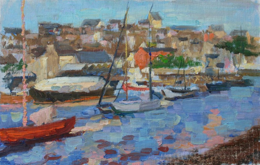Port of Douarnenez, Bretagne. oil on canvas