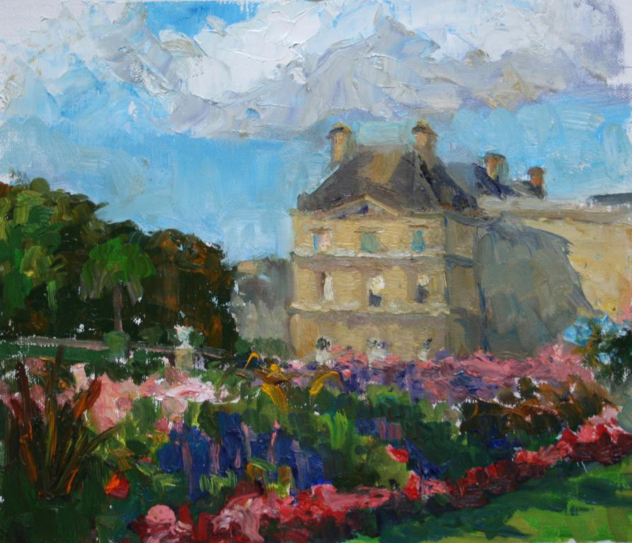 Luxembourg Palace. oil on canvas
