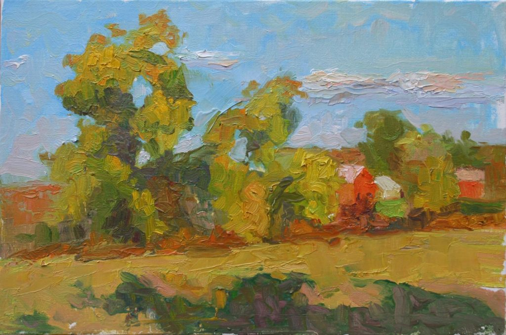 Fall Colors in Poolsville. oil on canvas