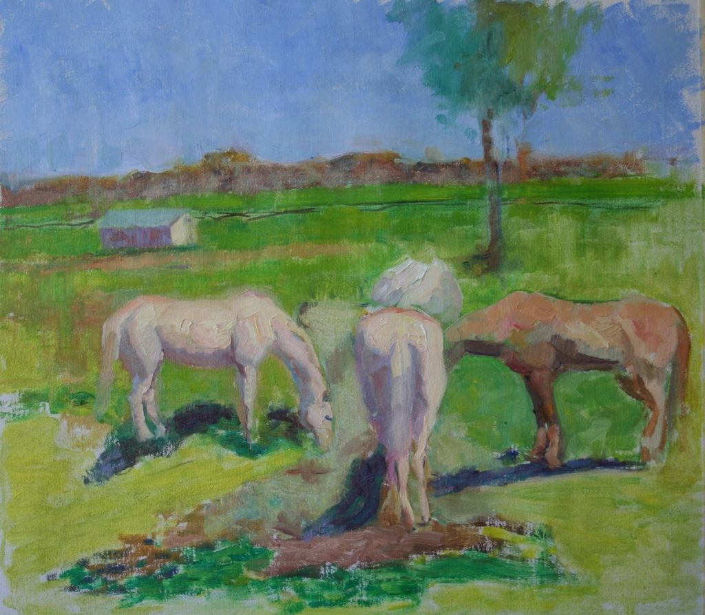 Horses. Spring. oil on canvas.