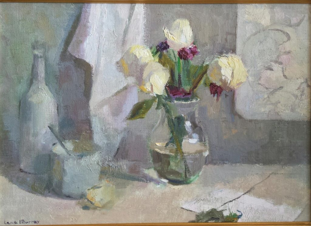 Still Life in White. oil on canvas