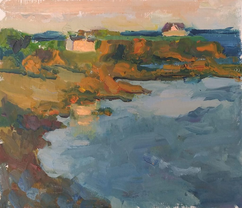 Rocks of Poludu, oil on canvas.