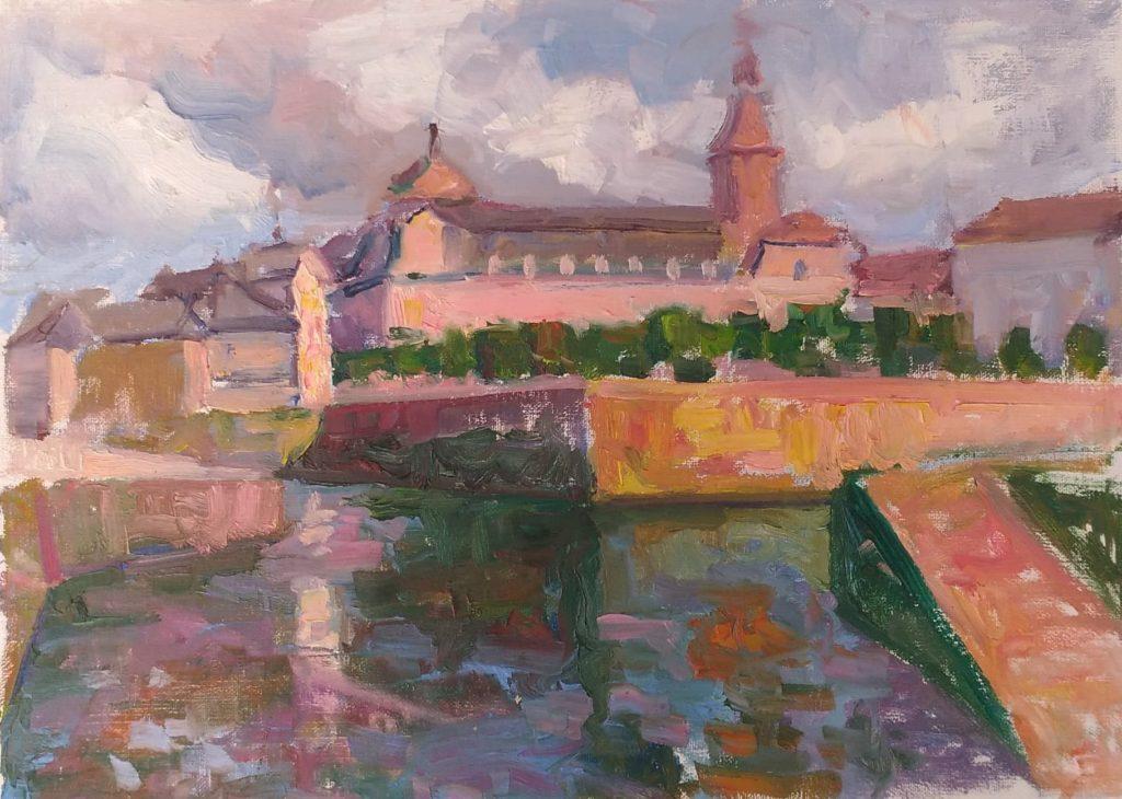 Quimperle, Bretagne. oil on canvas.